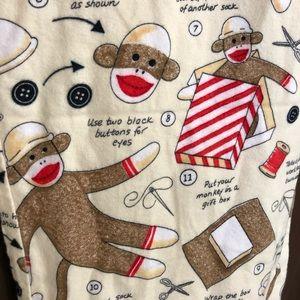 Nick & Nora Pajamas Set Sock Monkey Shirt & Pant